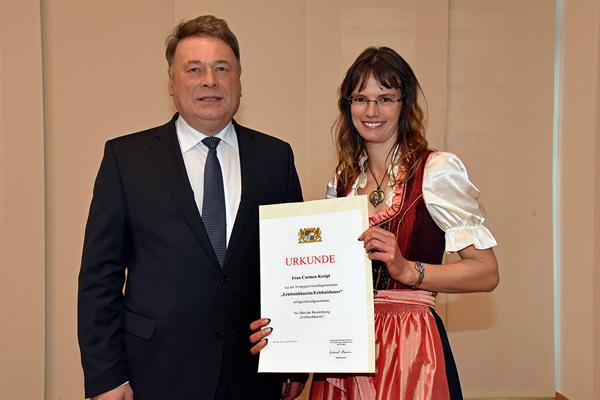 Landwirtschaftsminister Helmut Brunner , Carmen Kreipl